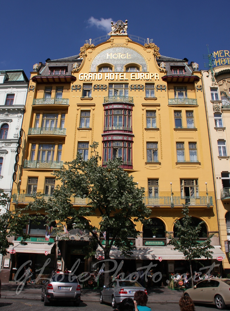 Pr ga vencel t r szecesszi s fot photo by globe m for Hotel europa prague